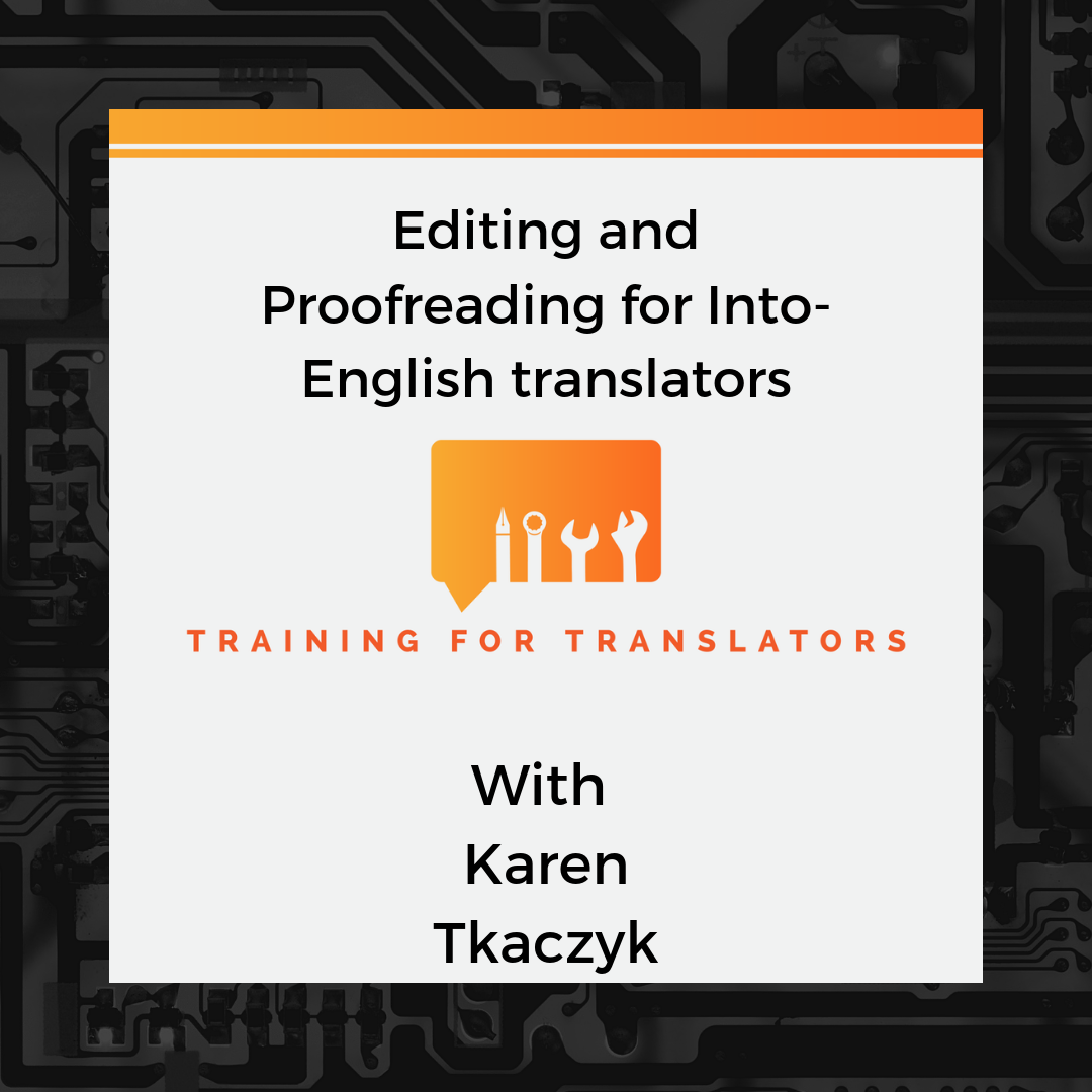 English In Italian: Editing And Proofreading For Into-English Translators